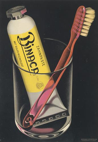 NIKLAUS STOECKLIN (1896-1982). BINACA. 1941. 13x9 inches, 33x23 cm. Wasserman A.G., Basel.