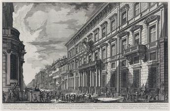 GIOVANNI B. PIRANESI Veduta nella Via del Corso, del Palazzo dellAccademia.