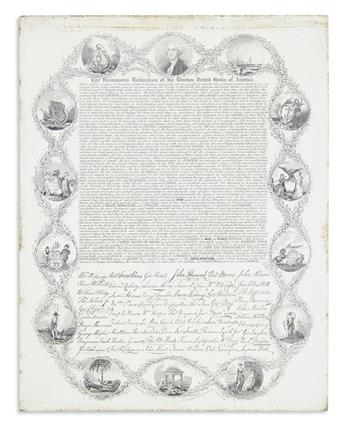 (DECLARATION OF INDEPENDENCE.) In Congress, July 4 1776, the Unanimous Declaration of the Thirteen United States of America.