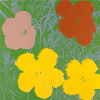 ANDY WARHOL Flowers.