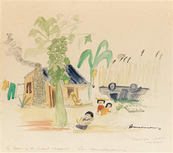 (THE NEW YORKER.)  LUDWIG BEMELMANS. Bountiful Squalor - The Village.