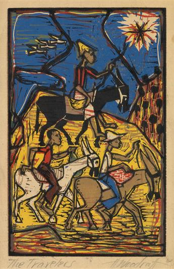 HALE WOODRUFF (1900 - 1980) The Travelers.