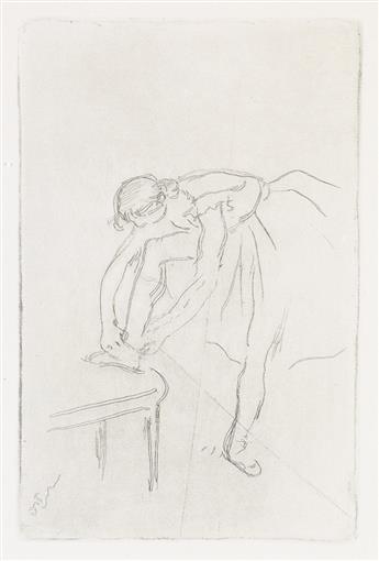 EDGAR DEGAS Danseuse mettant son chausson.