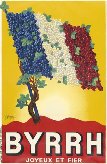 ROBYS (ROBERT WOLFF, 1905-1995). BYRRH. 1937. 76x49 inches, 194x125 cm. Affiches Stentor, Paris.