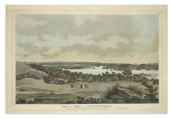 (AUSTRALIA.) [Eyre, John; after]. View of Sidney in New South Wales. (Taken from Bell-Mount).