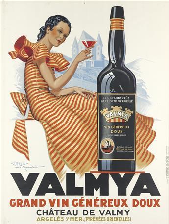 HENRY LE MONNIER (1893-1978). VALMYA. 1937. 61x46 inches, 156x118 cm. Joseph-Charles, Paris.