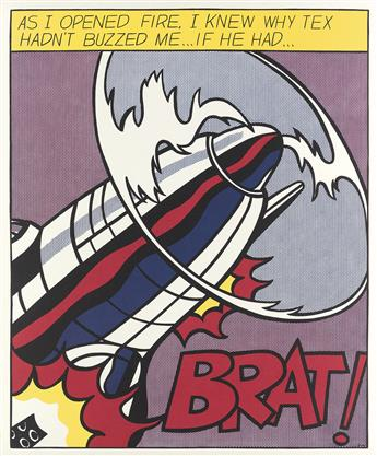 ROY LICHTENSTEIN As I Opened Fire Poster, Triptych.