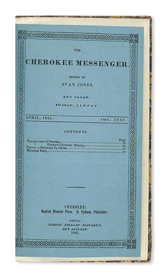 (AMERICAN INDIANS.) The Cherokee Messenger.