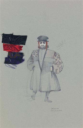 (THEATER / COSTUME)  MARTIN PAKLEDINAZ. Volpone as Commendatore.