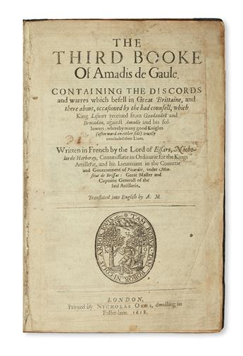 (AMADÍS DE GAULA.) The Third [Fourth] Booke of Amadis de Gaule.  1618