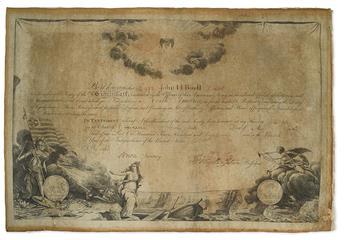 WASHINGTON, GEORGE. Partly-printed vellum Document Signed, G:Washington, as President of the Society of the Cincinnati,