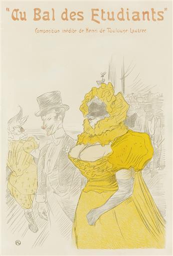 DAPRÈS HENRI DE TOULOUSE-LAUTREC (1864-1901). AU BAL DES ETUDIANTS. 1901. 22x15 inches, 56x38 cm.