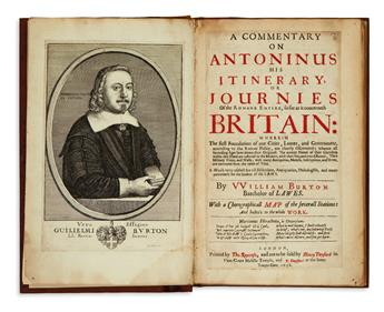 (ANTONINE ITINERARY.) Burton, William. A Commentary on Antoninus his Itinerary . . . so far as it concerneth Britain.  1658