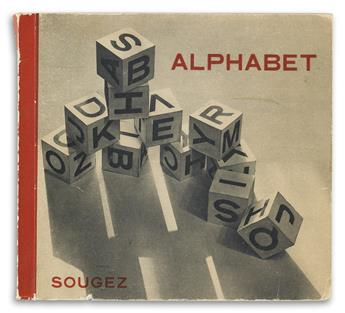 LOUIS-VICTOR-EMMANUEL SOUGEZ (1889-1972). ALPHABET. Book. 1932. 6x7 inches, 16x18 cm. Éditions Antoine Roche, Paris.