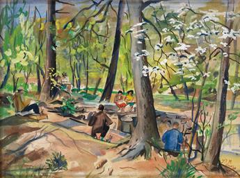 LOÏS MAILOU JONES (1905 - 1998) Rock Creek Park.