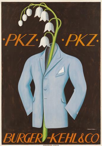 NIKLAUS STOECKLIN (1896-1982). PKZ / BURGER - KEHL & CO. 1923. 50x35 inches, 128x89 cm. Wolfsberg, Zurich.