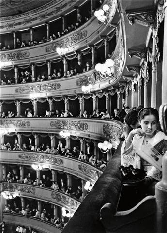 EISENSTAEDT, ALFRED (1898-1995) Premier at La Scala, Milan.