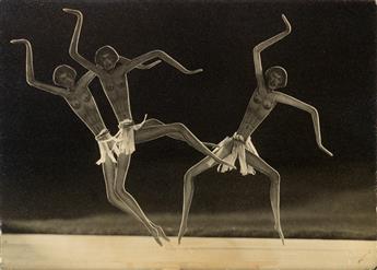 DRTIKOL, FRANTISEK (1883-1961) Dancing cut-out figures.