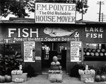 EVANS, WALKER (1903-1975) Fish Market near Birmingham, Alabama.
