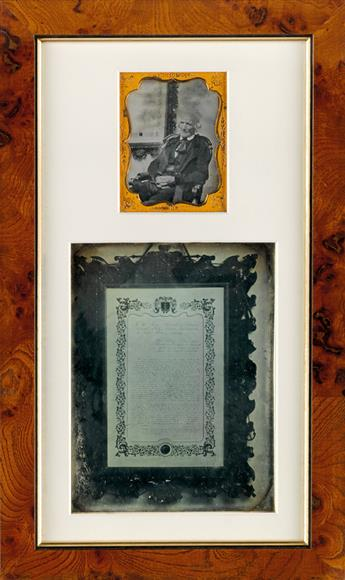 SOUTHWORTH & HAWES (1843-1863) Assemblage with 2 daguerreotypes, comprising a quarter-plate of L. Nobb, the Mayor of Boston, and a whol