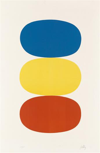 ELLSWORTH KELLY Blue and Yellow and Red-Orange.