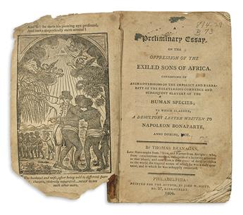 (SLAVERY AND ABOLITION.) Branagan, Thomas. A Preliminary Essay on the Oppression of the Exiled Sons of Africa.