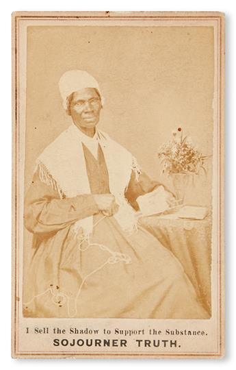 (SLAVERY AND ABOLITION.) SOJOURNER TRUTH. BAUMFRE, ISABELLA. I Sell the Shadow to Support the Substance.