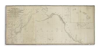(BLUEBACK CHARTS.) Norie, J.W. A New Chart of the Pacific Ocean Exhibiting the Western Coast of America, Cape Horn to Beerings Strait,