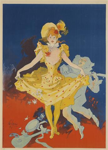 JULES CHÉRET (1836-1932). {MUSÉE GRÉVIN / PANTOMIMES LUMINEUSES.} 1892. 46x33 inches, 116x84 cm. Chaix, Paris.