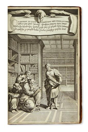 (BIBLE IN ANGLO-SAXON.) Heptateuchus, Liber Job, et Angelium Nicodemi; Anglo-Saxonice. 1698