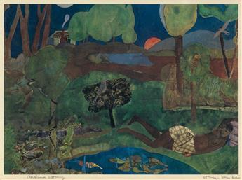 ROMARE BEARDEN (1911 - 1988) Carolina Morning (Recollection Pond).