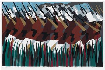 JACOB LAWRENCE (1917 - 2000) The March.