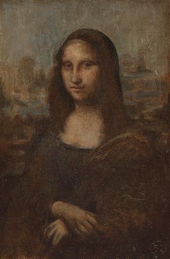 MARC MOUCLIER (Aigre 1866-1948 Paris) The Mona Lisa, after Leonardo da Vinci.