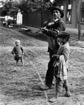 KERTÉSZ, ANDRÉ (1894-1985) Blind Musician, Abony, Hungary.