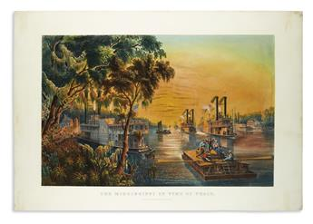CURRIER & IVES. The Mississippi in Time of Peace.