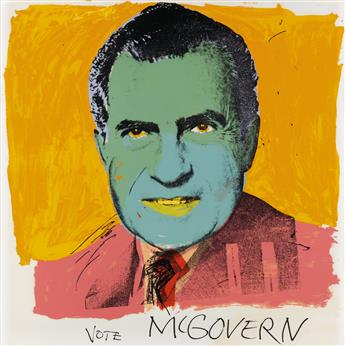 ANDY WARHOL Vote McGovern.