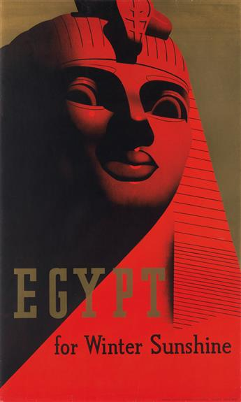 DESIGNER UNKNOWN. EGYPT FOR WINTER SUNSHINE. 1937. 39x23 inches, 99x58 cm. [S.C. Allen & Company Ltd., London.]