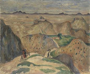 PAUL BURLIN Riders in a Western Landscape.