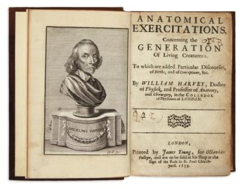 HARVEY, WILLIAM.  Anatomical Exercitations, concerning the Generation of Living Creatures.  1653