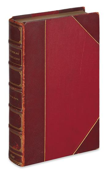 DICKENS, CHARLES. The Life and Adventures of Nicholas Nickleby.