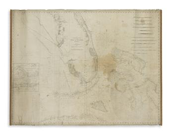 (BLUEBACK CHARTS.) Blunt, Edmund. The Bahama Banks and Gulf of Florida.