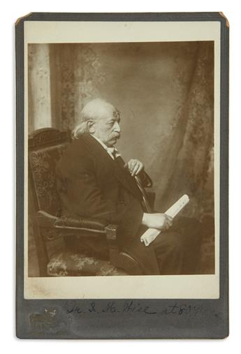 (JUDAICA.) Cabinet photo of Isaac M. Wise.