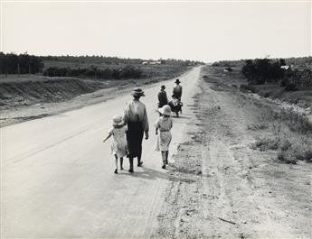 DOROTHEA LANGE (1895-1965) Homeless Family, Oklahoma.