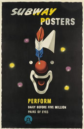 EDWARD MCKNIGHT KAUFFER (1890-1954). SUBWAY POSTERS PERFORM. 1947. 44x29 inches, 113x75 cm.
