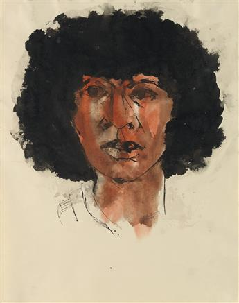 CHARLES ALSTON (1907 - 1977) Untitled (Head of a Woman).