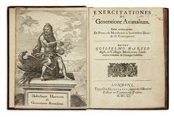 HARVEY, WILLIAM.  Exercitationes de Generatione Animalium.  1651