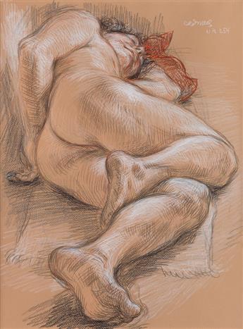 PAUL CADMUS Sleeping Figure (NM 254).