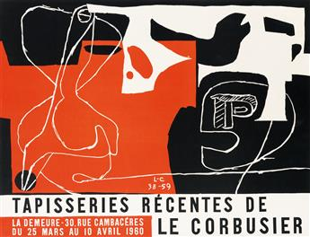 LE CORBUSIER (CHARLES-ÉDOUARD JEANNERET, 1887-1965). TAPISSERIES RÉCENTES DE LE CORBUSIER. 1960. 19x25 inches, 48x65 cm.