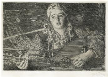 ANDERS ZORN Three etchings.