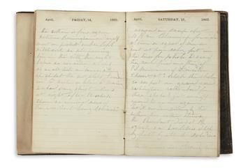 (CIVIL WAR--MASSACHUSETTS.) Chandler, Julius Bernard. Diary kept by a private in Washington during the closing months of the war.